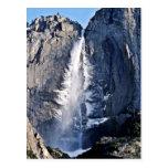 Las cataratas de Yosemite, febrero Tarjetas Postales