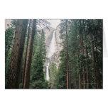 Las cataratas de Yosemite Felicitación