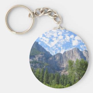 Las cataratas de Yosemite Llavero Redondo Tipo Pin