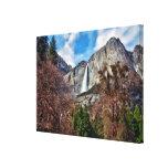 Las cataratas de Yosemite Lona Estirada Galerías