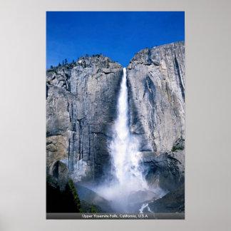 Las cataratas de Yosemite superiores, California, Póster