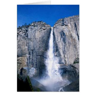 Las cataratas de Yosemite superiores, California, Tarjeta De Felicitación