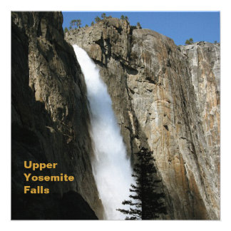 Las cataratas de Yosemite superiores en California Comunicados Personalizados