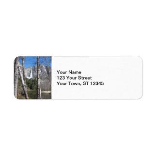 Las cataratas de Yosemite superiores Etiqueta De Remitente