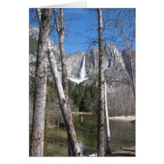Las cataratas de Yosemite superiores Tarjeta De Felicitación