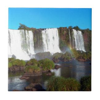 Las cataratas del Iguazú 2 Azulejo Cuadrado Pequeño