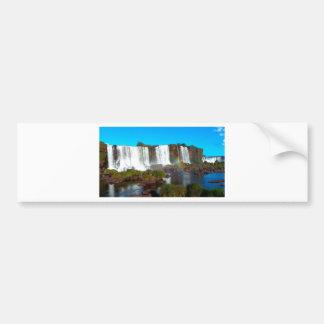 Las cataratas del Iguazú 2 Pegatina Para Auto