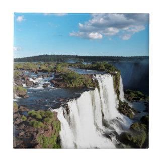 Las cataratas del Iguazú 3 Azulejo Cuadrado Pequeño