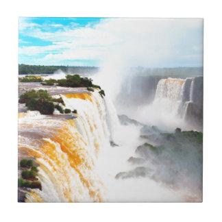 Las cataratas del Iguazú 4 Azulejo Cuadrado Pequeño