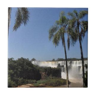 Las cataratas del Iguazú 6 Azulejo Cuadrado Pequeño