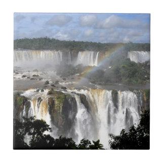 Las cataratas del Iguazú 7 Azulejo Cuadrado Pequeño