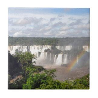 Las cataratas del Iguazú 8 Azulejo Cuadrado Pequeño