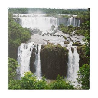 Las cataratas del Iguazú Azulejo Cuadrado Pequeño