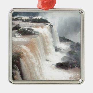 las cataratas del Iguazú Brazill Adorno Navideño Cuadrado De Metal