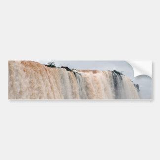 Las cataratas del Iguazú el Brasil/la Argentina Pegatina De Parachoque