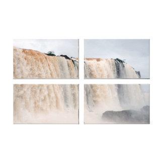 Las cataratas del Iguazú el Brasil/la Argentina Lona Estirada Galerías