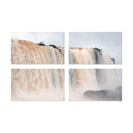 Las cataratas del Iguazú el Brasil/la Argentina Lona Envuelta Para Galerias
