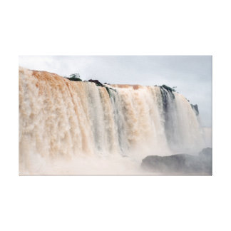 Las cataratas del Iguazú el Brasil/la Argentina Impresión De Lienzo
