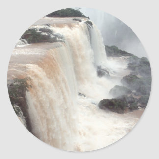 Las cataratas del Iguazú el Brasil/la Argentina Etiquetas Redondas