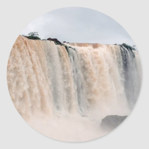 Las cataratas del Iguazú el Brasil/la Argentina Pegatina Redonda