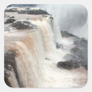 Las cataratas del Iguazú el Brasil/la Argentina Colcomanias Cuadradases