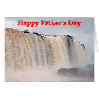 Las cataratas del Iguazú el Brasil/la Argentina Felicitación