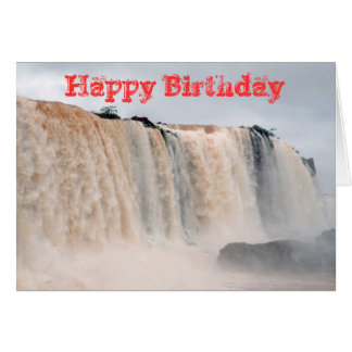 Las cataratas del Iguazú el Brasil/la Argentina Tarjeta