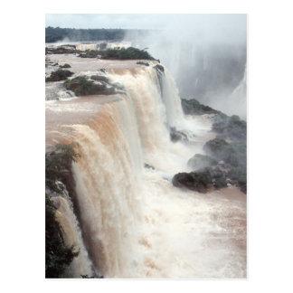 Las cataratas del Iguazú el Brasil/la Argentina Tarjeta Postal