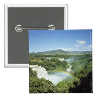 Las cataratas del Iguazú escénicas de desatención Pin Cuadrado