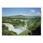 Las cataratas del Iguazú escénicas de desatención  Felicitación