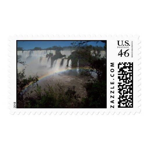Las cataratas del Iguazú la Argentina Franqueo