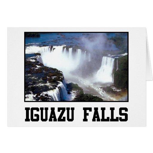 Las cataratas del Iguazú Tarjeta De Felicitación