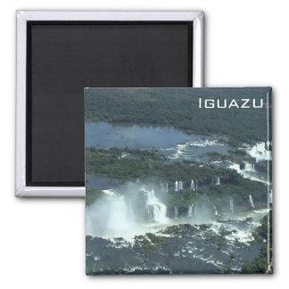 Las cataratas del Iguazú - visión aérea Imán Cuadrado