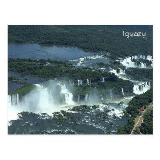Las cataratas del Iguazú - visión aérea Tarjetas Postales