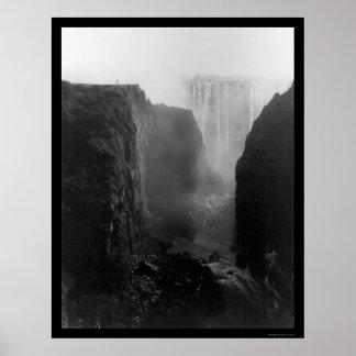 Las cataratas Victoria Rhodesia 1902 Impresiones