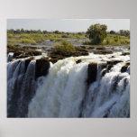 Las cataratas Victoria, río de Zambesi, Zambia. 2 Posters