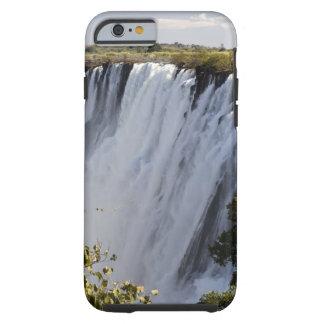 Las cataratas Victoria, río de Zambesi, Zambia Funda Para iPhone 6 Tough