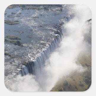 Las cataratas Victoria, río de Zambesi, Zambia - Pegatina Cuadrada