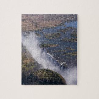 Las cataratas Victoria, río de Zambesi, Zambia - Z Puzzle Con Fotos