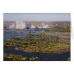 Las cataratas Victoria, río de Zambesi, Zambia - Z Tarjeta De Felicitación