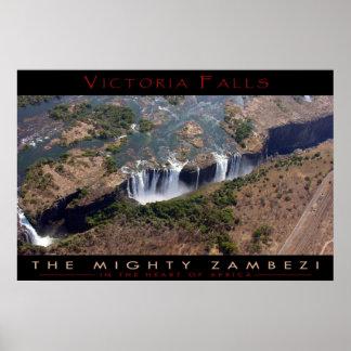 Las cataratas Victoria (v2) Póster