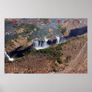 Las cataratas Victoria (v3) Póster