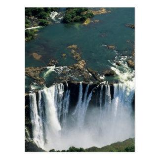 Las cataratas Victoria, Zambia a la frontera de Tarjetas Postales