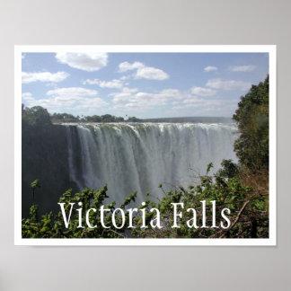 Las cataratas Victoria, Zambia, Zimbabwe Posters