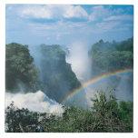 Las cataratas Victoria, Zimbabwe Azulejo Cuadrado Grande