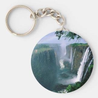 las cataratas Victoria, Zimbabwe Llavero Redondo Tipo Pin