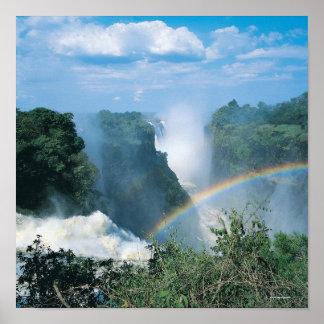 Las cataratas Victoria, Zimbabwe Poster