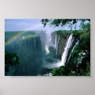 las cataratas Victoria, Zimbabwe Posters