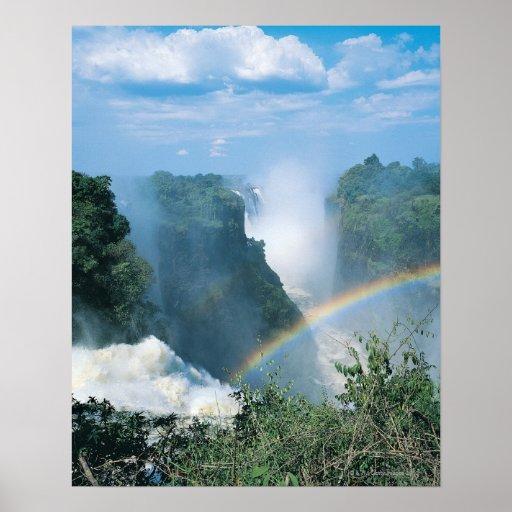 Las cataratas Victoria, Zimbabwe Póster
