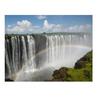 Las cataratas Victoria Zimbabwe Tarjeta Postal